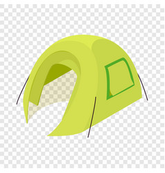 Green tent icon isometric 3d style vector