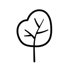 greenery tree foliage botanical nature icon thick vector image