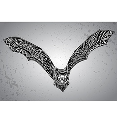 Hand drawn graphic ornate bat vector image