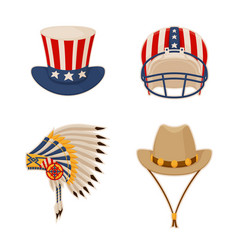 hat and items connected to usa vector image