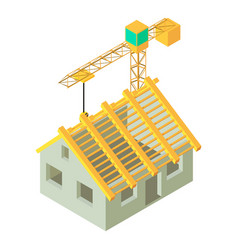 Housing construction icon isometric style vector