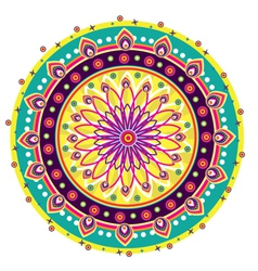 Indian medallion design vector