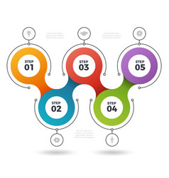 infographic steps process info elements graphic vector image