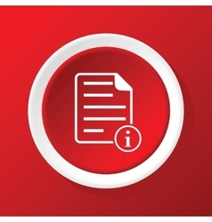 Information document icon on red vector
