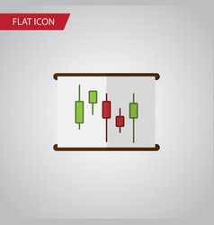 Isolated chart flat icon diagram element vector