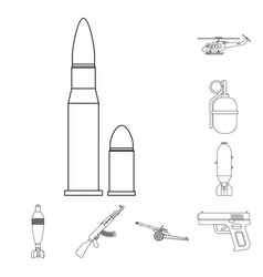 Isolated object weapon and gun icon collection vector