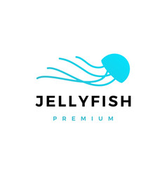 jelly fish logo icon vector image