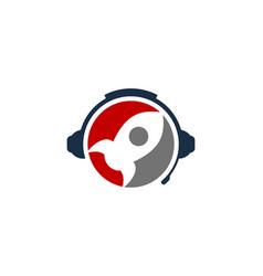 launch podcast logo icon design vector image