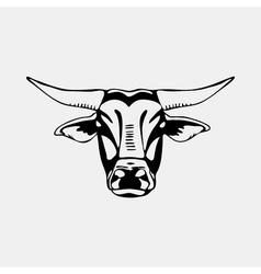 Logo symbol sign stencil bull headUnique technique vector image