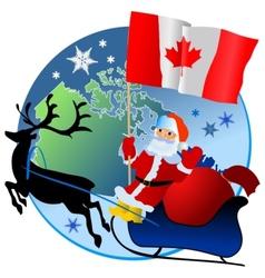 Merry Christmas Canada vector image