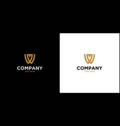 modern and elegant wm letter initials logo vector image