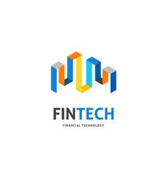 modern logo concept design for fintech vector image