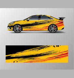 modern racing car wrap strip for racing sport car vector image