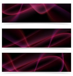 Neon glow swoosh line header collection vector