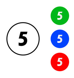 number 5 icon vector image
