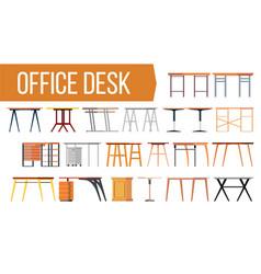 office desk set office creative modern vector image