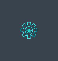 Optimization concept blue line icon simple thin vector