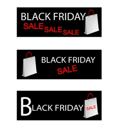 Paper Shopping Bags for Black Friday Special vector image