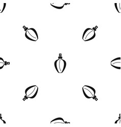 Parfume bottle pattern seamless black vector