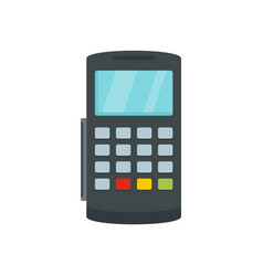 payment digital bank terminal icon flat style vector image