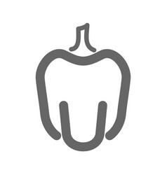 pepper outline icon vegetable vector image