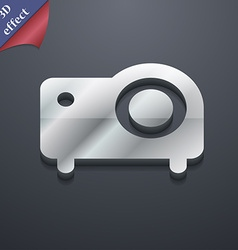 projector icon symbol 3D style Trendy modern vector image