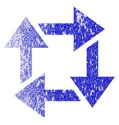 Recycle grunge textured icon vector