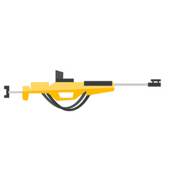 Rifle for biathlon vector