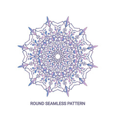 round gradient mandala with floral pattern eps 10 vector image