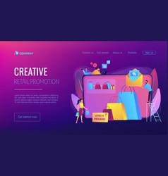 Sales promotion concept landing page vector