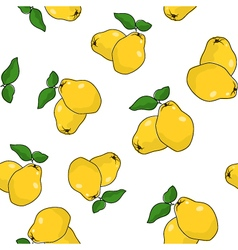 Seamless Pattern of Quince vector