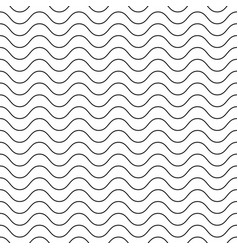 seamless texture background with simple wavy lines vector image