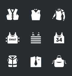 set clothes icons vector image