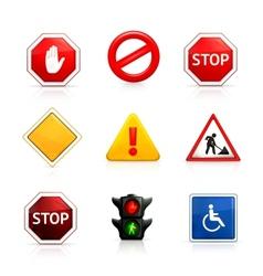 Set road signs vector