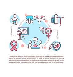 Sexual education concept icon with text vector
