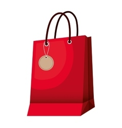 shopping bag paper icon vector image