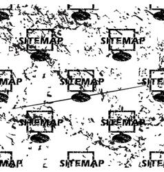 Sitemap pattern grunge monochrome vector image