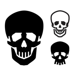 skull logo design template Jolly Roger or vector image