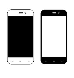 smartphone on white background vector image