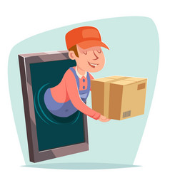 Smartphone order internet delivery purchase goods vector