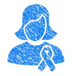 Solidarity tie grunge icon vector