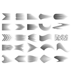 speed lines collection gradient comic cartoon vector image