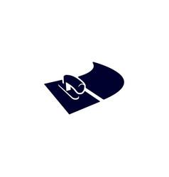 Stucco plasterer logo left vector