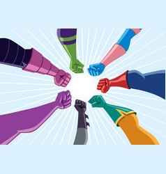 Superhero team assemble vector
