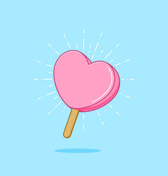 sweet valentine popsicle vector image