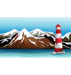 Tall building in the sea vector