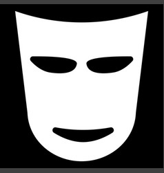 theater mask the white color icon vector image