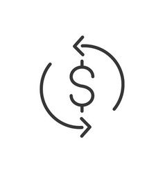 trade commerce finance money icon thick line vector image