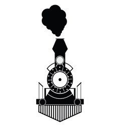 train antique black vector image