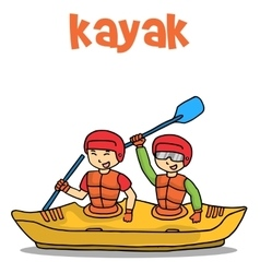 Transport of kayak flat vector